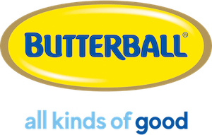 A logo of Butterball
